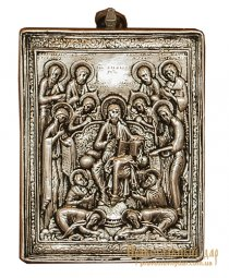 Icon of the Lord Jesus Christ and the 12 Apostles 10x12 cm - фото