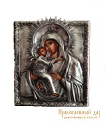 Icon of the Holy Theotokos of Vladimir 14x18 cm Greece - фото