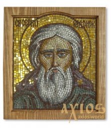 Icon of a mosaic of St. Sergius of Radonezh - фото