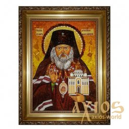 Amber icon of the Holy Archbishop of San Francisco and Shanghai John 20x30 cm - фото