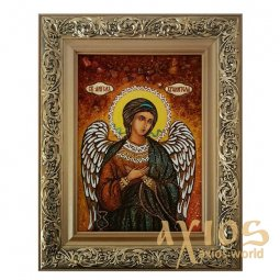 Amber icon of the Holy Guardian Angel 20x30 cm waist - фото