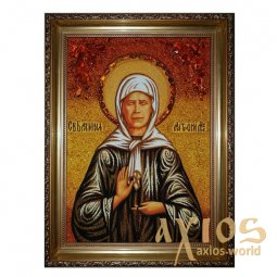 Amber Icon of St. Matrona Moscow 20x30 cm - фото