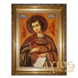 Amber icon of the Holy Prophet Daniel 20x30 cm - фото