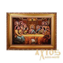 Amber icon of the Last Supper 20x30 cm - фото