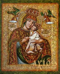 Icon of the Most Holy Mother of God Tenderness 30х37,5 cm - фото
