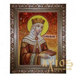 The Amber Icon The Holy Equal of the Apostles Elena 40x60 cm - фото