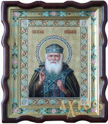 Hand-written Icon of the Venerable Jonah of Kyiv 31х24 cm - фото