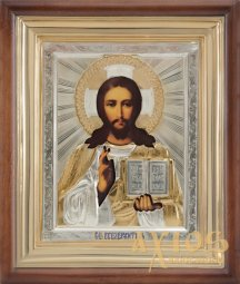 Lord Almighty number 1, size - 24 cm x 28.5 cm, gilding, silvering, enamel - фото