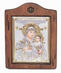 Icon of the Mother of God of Bethlehem, Italian frame №2, 13x17 cm, alder tree - фото