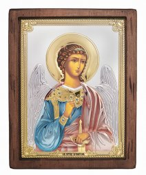 Icon Guardian Angel, Italian frame №4, enamel, 24x31 cm, alder tree - фото