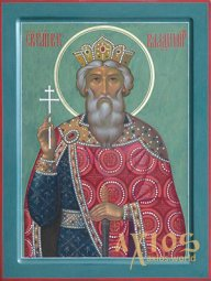 Painted Icon of the Holy Prince Vladimir, 30x40 cm - фото