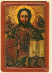 The icon of Christ the Pantokrator, the Deisis (XVIII century) - фото