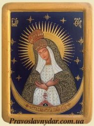 The icon of The Blessed Virgin Mary Mother of Mercy - фото