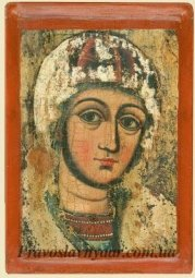 Fragment of Icon of the Virgin ,Potelich (XVII century) - фото