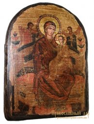 Icon of the Holy Theotokos antique arch Vsetsaritsa 17h23 cm - фото