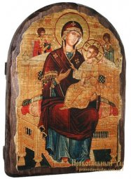 Icon of the Holy Theotokos antique Vsetsaritsa 17h23 see Arch - фото