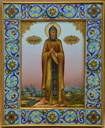 Exclusive icon of St. venerable Alexander of Svir  - фото