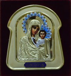 Exclusive icon of the Virgin of Kazan - фото