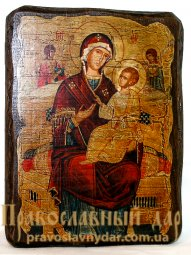 Icon antique Vsetsaritsa 7x9 cm Holy Mother of God - фото