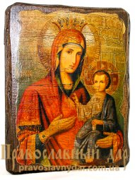 Icon antique Iver 7x9 cm Holy Mother of God - фото