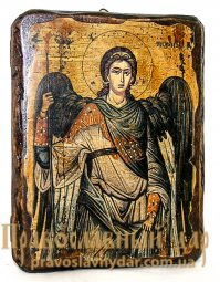 Icon Antique Holy Archangel Michael 7x9 cm - фото