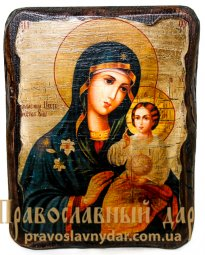 Icon of the Holy Theotokos antique Fadeless Color 7x9 cm - фото