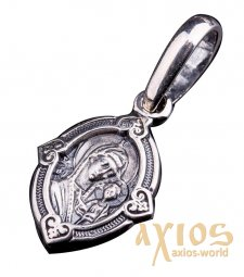 Pendant «The Icon of the Mother of God of Kazan», silver 925, with blackening, О 131092 - фото