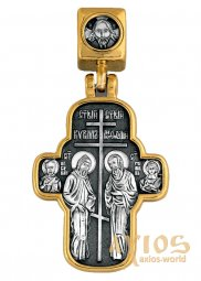 "Pendant-cross ""Saints Cyril and Methodius. Icon of the Mother of God ""Skoroposlushnitsa"" - фото"