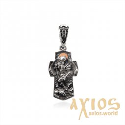 "Pendant from silver and gold with the guardian angel ""Amadeus"" - фото"