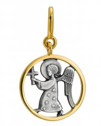Icon «Angel», Silver 925°, Gilding - фото
