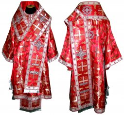 Bishop's Vestment from brocade red colour R - фото