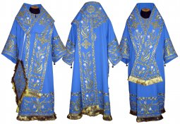 Bishop's Vestment with sewn lace R018A(v) - фото