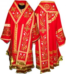 Bishop's Vestment with sewn galloon R018A(n) - фото