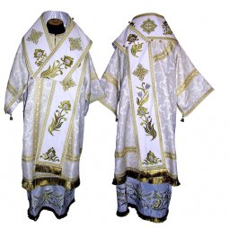 Bishop's Vestment of brocade, sewn lace R042a (n) - фото